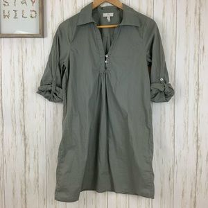 Joie Gray Shirt Dress Sz M